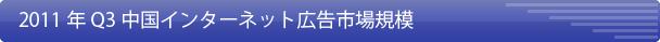2011年Q3、中国ネット広告市場規模